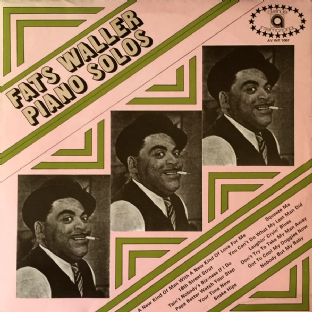 Fats Waller - Piano Solos (LP) (EX/VG+)